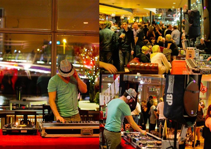 Professional DJ sound equipment