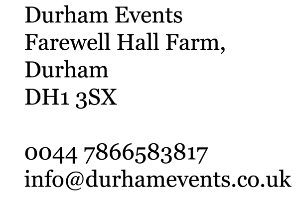 Durham Events contact information