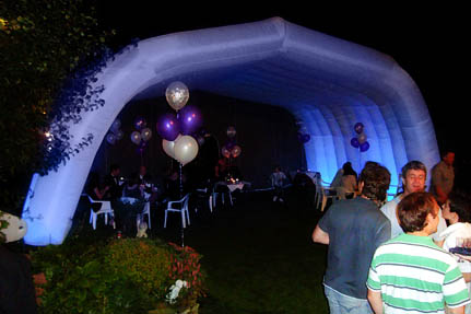 Inflatable Marquee night shot